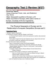 Geography Test 3 Review