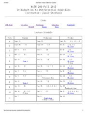 Math 20D Schedule_ Ordinary Differential Equations
