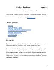 Project 2 Malware Analysis Writeup pdf - Malware Analysis