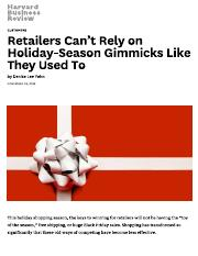 Retailers Can't Rely on Holiday-Season Gimmicks Like They Used To