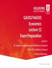 GA503  MA503 Lecture 12 - Exam preparation Powerpoint.pptx