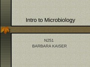 Microorganisms Lecture Slides