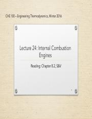 lecture 24-Internal Combustion Engines