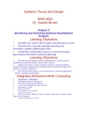 Chapter 5 Identifying and Selecting Systems Development Proje