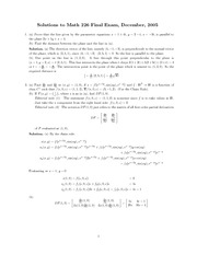 Math226 Final exam_2005December_Solution