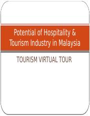 Potential of Hospitality & Tourism Industry in Malaysia