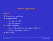 Lecture Notes C on Applications, Raster Hardware, Display Architecture