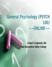 PSYCH 100 Welcome with Audio