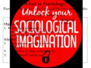 Sociology 2012-2013S1 - Part 1 - Intro to Soc & Soc Imag - Lesson 1 - What Is Sociology