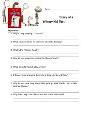 Diary of a Wimpy Kid Test 1.odt