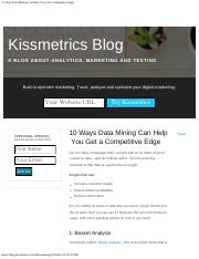 10 Ways Data Mining Can Help You Get a Competitive Edge