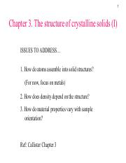 AP2102-Lecture3 Structure of crystalline solids