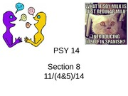 PSY 14 Fall 2014 Section 8