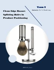 T2_C4 Clean Edge Razor - Splitting Hairs in Product Positioning