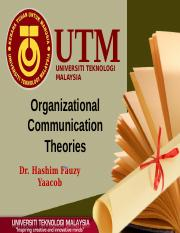 OC2.Organizational Communication Theories.pptx