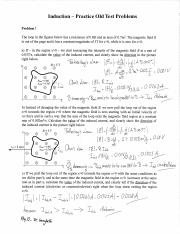 Practice Problems (Induction) Physics 13 Lehigh