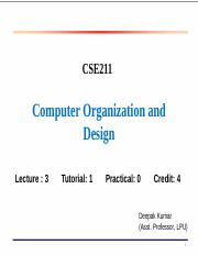 Computer Organization Ppt Basic Computer Organization And Design 1 Overview Instruction Codes Computer Registers Computer Instructions Timing And Course Hero