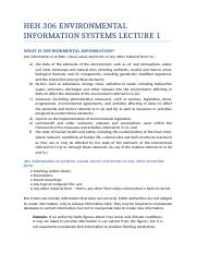 Lecture 1 Environmental information Definition and Elements.docx