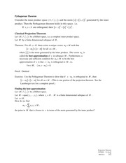2011-09-23 Projection Theorem