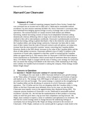 Harvard Case Clearwater Homework Write Up