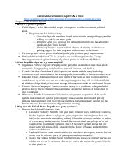 American Government Chapter 5 & 6 Notes