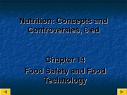 PUBH 1517 - (Chapter 14) Food Safety & Food Technology 1
