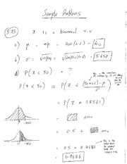 STAT 53 - Sample problems very similar to HW 2 problems