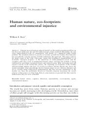Rees Human nature and consumption 2008