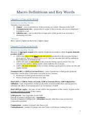 Macro - Definitions, Key Words and Theories CH 1-11.docx