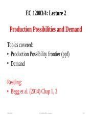 Lecture 2 PPC and Demand