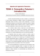Tema 1 Forwards y Futuros I