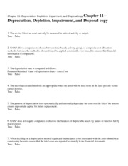 Chapter 11--Depreciation, D