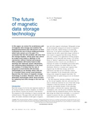 The future of Magnetic data storage
