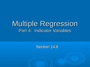 Multiple Regression Indicators
