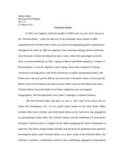freedom riders essay