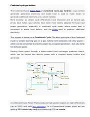 Combined cycle gas turbine.docx