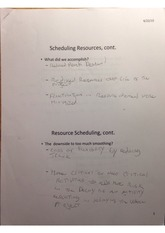 Scheduling Resources Assignment 2