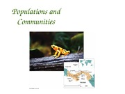Populations and communities, ecosystems & change