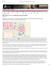 Harford, 2014 - Big data- are we making a big mistake.pdf