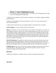 Week 5 Critical Thinking