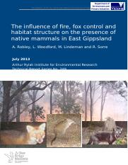 ARI-Technical-Report-249-Influence-of-fire-fox-control-and-habitat-on-native-mammals.doc