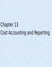 Chapter 13 - Cost Accounting and Reporting (Fall II 2016)