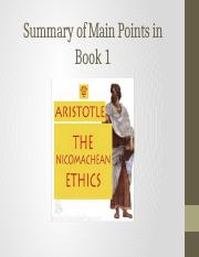 Lecture Notes_Aristotle_Nicomachean Ethics_ Summary of Book 1