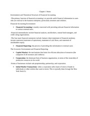 Intermediate Accounting Notes Ch1