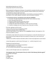 Medical Bacteriology test one notes