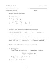 MATH.141.SAMPLE.TEST.1.SOLUTIONS