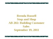 unit 4 assignment building customer Brenda Russell