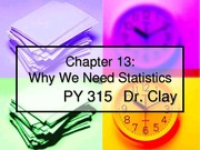 chapter 13 Why We Need Statistics
