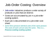 Wed. Breakout Job-Order Costing