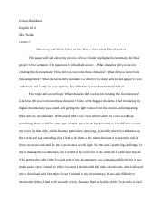 Metaessay and Works Cited on Star Wars a Successful Film Franchise.docx